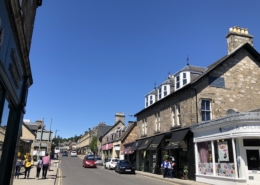 Image of Pitlochry Main Street on a sunny day